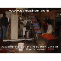 Buy cheap A Complete Set of Production Line of Fresh Cherry Juice from wholesalers