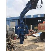 Photovoltaic Series Pile Driver Machine , Excavator Mounted Sheet Pile Driver Manufactures