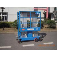 8m Hydraulic Scissor Working Platform Double Mast For Window Cleaning Manufactures