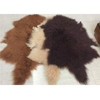 2 * 4 Feet Home Upholstery Mongolian Lamb Throw Blanket With Hide Pelt Manufactures
