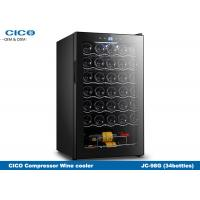 CICO 34bottles Single zone Free-standing Compressor Wine Cooler with touch panel temperaturere control Manufactures