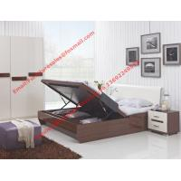 Storage bed box with oil bar support in dark oliver painting and white headboard furniture Manufactures