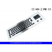 Customized Layout Panel Mount Keyboard Metal with Touchpad Mouse / Vandal proof Keyboard Manufactures
