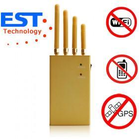 Mini Satellite GPS Signal Jammer / Blocker EST-808KF For Vehicles , 30dBm Manufactures