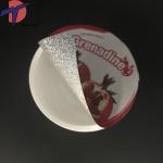 China Factory Die out aluminium foil lids,  Die cut foil seals for PP/PS/PE cups Manufactures