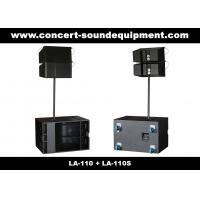 "380W Line Array Speaker , With 2x1""+10"" Neodymium Drivers For Living Event , DJ , Party And Installation Manufactures"