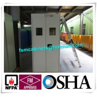 Gas Bottle Chemical Drum Storage For Fire Protection , Burnable Gas Alarm Drum Storage Cabinet Manufactures