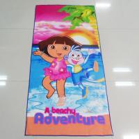 Multi Purpose Microfiber Beach Towels Dora Adventures Pattern For Car Cleaning Manufactures