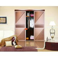 Air Tight / Soundproof Interior Slat Leather Sliding Door For Cup Board Manufactures
