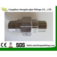 China BSP / NPT Threaded Screwed Stainless Steel Pipe Fitting Union / Elbow Fitting on sale