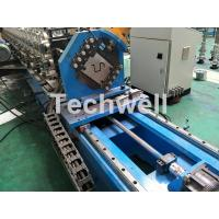 16 Stations Cold Roll Forming Machine With Rubber Belt Driven Servo Tracking Cutting Device Manufactures