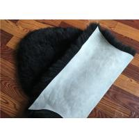 Quality Dyed Black Sheepskin Fleece Blankets Soft Warm For Children Room Bed Decoration  for sale