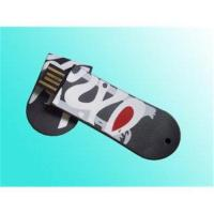PVC Black Slipper 2GB Custom Usb Flash Drives with Hi - Speed Manufactures