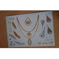 DIY Jewelry inspired metallic Body Tattoo Stickers Easy apply Manufactures