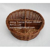 2016 new round shape wicker makeup storage basket 4 partitions Manufactures
