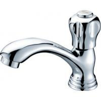China Traditional Chrome Plated Single Cold Water Taps Brass Faucet with Ceramic Cartridge on sale