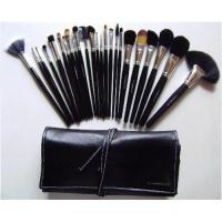 Quality MAC 24 Pcs Pro Make up Cosmetic Black Brushes Set with Black Case With No. for sale