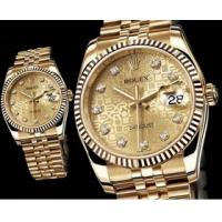 Authentic Rolex Watch Rolex Datejust Swiss ETA 2836 Movement quality GOLD watch 3 year war Manufactures