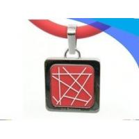 Red Custom energy Soft silicone power balance Negative Ion Necklace for students Manufactures