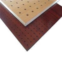 Decorative Wooden Ceiling Board Night Club Perforated Wall Partition Panel Manufactures