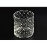 Pillar Cut Glass Candle Holders Decorative Glassware Customizable Manufactures