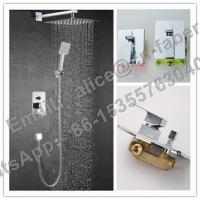 Brass Square Wall Mounted Concealed Bathroom Shower Faucet,Concealed shower set& wall mounted faucet  Manufactures