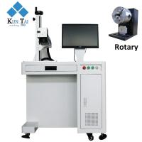 China high speed Rotary attchment 30w laser engraving machine for metal on sale
