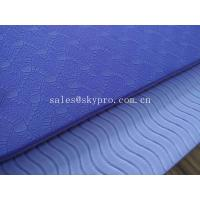 Colorful Dual Layers Custom Eco TPE Yoga Mat Patent Design , Light Weightiness Manufactures