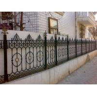 Yard Decoration White Cast Iron Fence Grills / Custom Wrought Iron Fence Manufactures