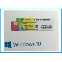 OEM French Language Microsoft Windows 10 Pro Software online activation with COA sticker Manufactures