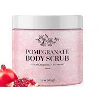 Daily Exfoliating Natural Body Scrub Anti Aging Pomegranate Salt Body Scrub Manufactures