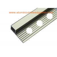 Bright Polished Champagne Metal Square Edge Tile Trim For Outside Corner Manufactures
