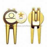 Sports Golf Repair/Divot Tool, Customized Ball Marker Accepted Manufactures