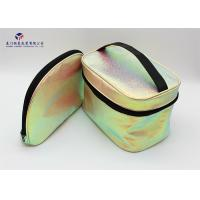 China Fashionable Soft Leather Makeup Bag Round Corners Treatment Without Handle on sale