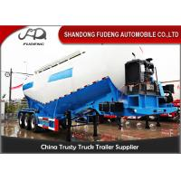 Tri - Axle Bulk Cement Tanker Trailer With Air Compressor Q235 Steel Tanker Body Manufactures