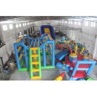 0.9mm PVC Fabric Inflatable Water Climbing Equipment For Adults Manufactures