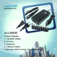 China 90W 3 in 1 Universal Laptop Adapter For Home Car and Airplane Use -ALU-90B3B on sale