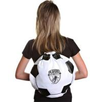 China Printed Soccer Ball Drawstring Backpack - 17w x 14.5h on sale