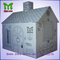 Customized Printing Cardboard Kids Toys Cat , Dog house / playhouse Manufactures