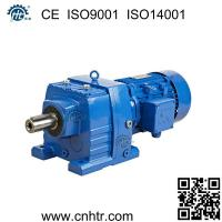 Foot mounted similar to SEW R series inline helical gear motor speed reducer Manufactures