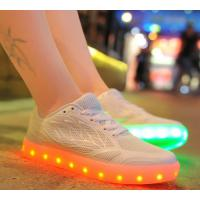 The New Sneakers For  Female Leds Shoes Candy Color Usb Charging Light Shoes Breathable Manufactures