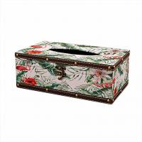 Retro Style Square Tissue Box Luxurious Box Europe Retangle Napkin Paper Holder Manufactures
