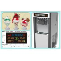 China Commercial Soft Ice Cream Vending Machine 2 + 1 Mixed Flavors High Capacity on sale
