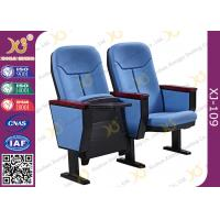 Gravity Wear - Resistant Fabric Church Auditorium Chairs With Writing Pad Manufactures