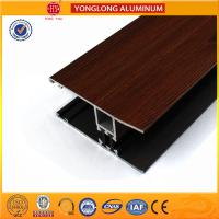 Wood Grain Stereoscopic Aluminum Window Profiles Environmental Protection Manufactures