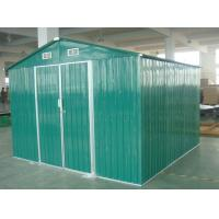 Green / White / Cream Movable 10x10 DIY Metal Shed For Workshop , Powder Coated Frame Manufactures