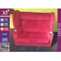 Fabric Cover Couple Cinema Chairs,  VIP Lover Cinema Seating  For Concert Manufactures
