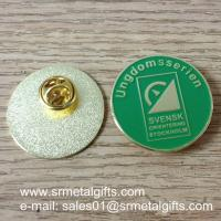 Custom enamel lapel pin with butterfly clutch, China pin factory Manufactures