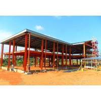 Double Floors Steel Frame Structure Metal Office Buildings Construction Manufactures
