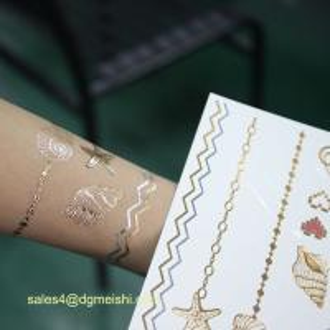 China Metallic temporary tattoo,metal tattoo on sale